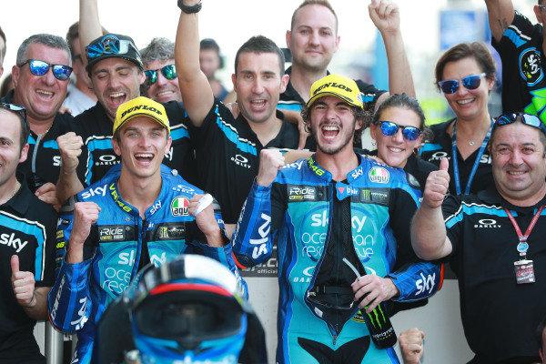 Luca Marini, Sky Racing Team VR46 Francesco Bagnaia, Sky Racing Team VR46.