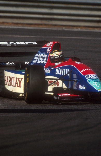 1993 Belgian Grand Prix.Spa-Francorchamps, Belgium.27-29 August 1993.Thierry Boutsen (Jordan 193 Hart). He exited the race on lap one with a clutch failure. This was his last Grand Prix.Ref-93 BEL 02.World Copyright - LAT Photographic