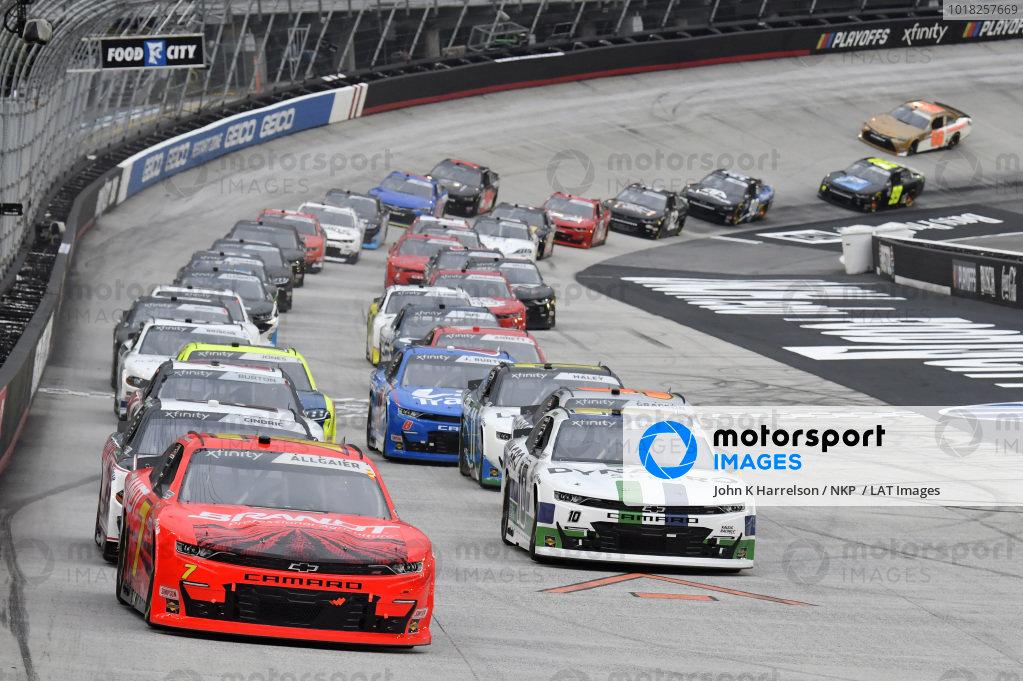 #7: Justin Allgaier, JR Motorsports, Chevrolet Camaro BRANDT, #10: Ross Chastain, Kaulig Racing, Chevrolet Camaro Dyna-Gro Seed