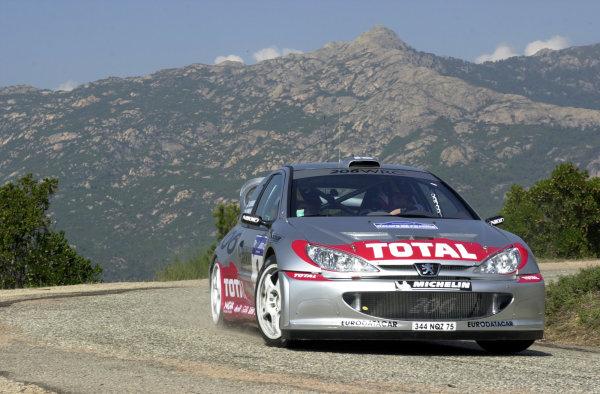2001 World Rally Championship.Rallye de France, Ajaccio, Corsica, October 19-21.Marcus Gronholm during shakedown.Photo: Ralph Hardwick/LAT