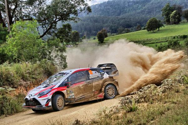 Jari-Matti Latvala (FIN) / Miikka Anttila (FIN), Toyota Gazoo Racing Toyota Yaris WRC at World Rally Championship, Rd13, Rally Australia, Day Two, Coffs Harbour, New South Wales, Australia, 18 November 2017.