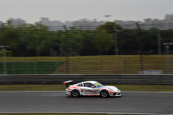 Ahmad F.Alam (INA) Presido Jakarta Ban Racing at Porsche Carrera Cup Asia, Shanghai, China, 13-15 April 2018.