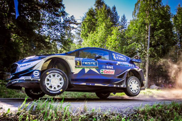 Ott Tanak (EST) / Martin Jarveoja (EST), M-Sport World Rally Team Ford Fiesta WRC at World Rally Championship, Rd9, Rally Finland, Day Three, Jyvaskyla, Finland, 30 July 2017.