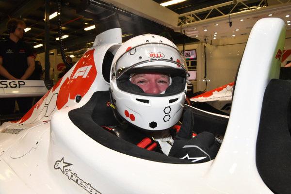 F1 Experiences 2-Seater passenger at Formula One World Championship, Rd1, Australian Grand Prix, Qualifying, Melbourne, Australia, Saturday 24 March 2018.
