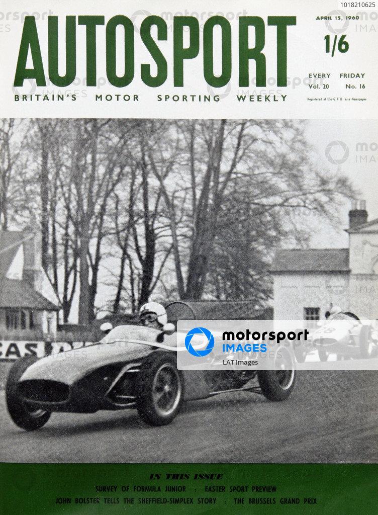 Cover of Autosport magazine, 15th April 1960