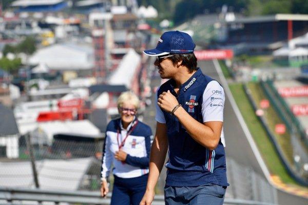 Lance Stroll, Williams Racing walks the track