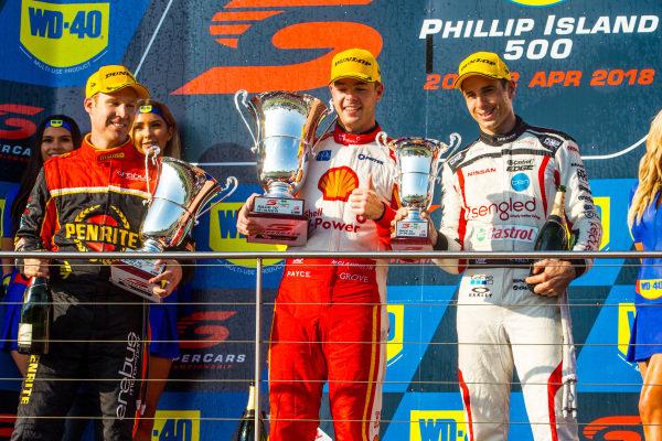 David Reynolds, Erebus Motorsport Holden Scott McLaughlin, DJR Team Penske Ford  Rick Kelly, Nissan Motorsport Nissan
