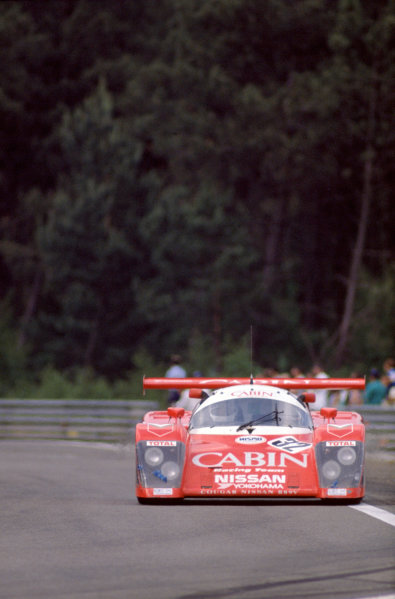 1987 Le Mans 24 HoursLe Mans, France. 10th - 11th June.Takao Wada/Akio Morimoto/Anders Olofsson (Courage Competition Nissan R88S).World Copyright: Murenbeeld/LAT Photographicref: 35mm Transparency Image