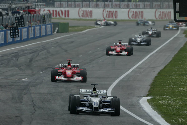 2003 San Marino Grand Prix - Sunday Race,Imola, Italy.20th April 2003.Ralf Schumacher, BMW Williams FW25, action.World Copyright LAT Photographic.ref: Digital Image Only.