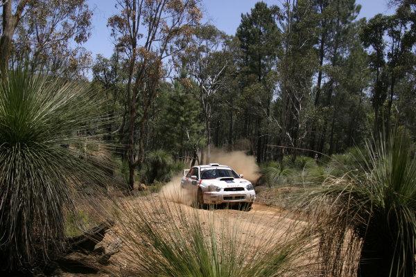 2004 FIA World Rally Champs. Round Sixteen, Rally Australia.11th - 14th November 2004.Alistair McRae, Subaru, action.World Copyright: McKlein/LAT