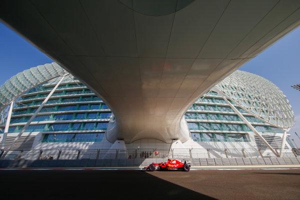 Yas Marina Circuit, Abu Dhabi, United Arab Emirates. Friday 24 November 2017. Kimi Raikkonen, Ferrari SF70H. World Copyright: Andy Hone/LAT Images  ref: Digital Image _ONY0328