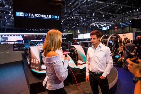2017/2018 FIA Formula E Championship. Geneva Motor Show Tuesday 6 March 2018. The FIA Formula-E Gen2 car is unveiled. Photo: Sam Bloxham/LAT/Formula E ref: Digital Image _W6I3946