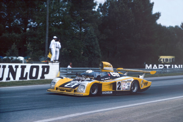 Le Mans, France. 10th - 11th June 1978.Jean-Pierre Jaussaud/Didier Pironi, Alpine-Renault A442B, 1st position, action.World Copyright: LAT PhotographicRef: 35mm transparency