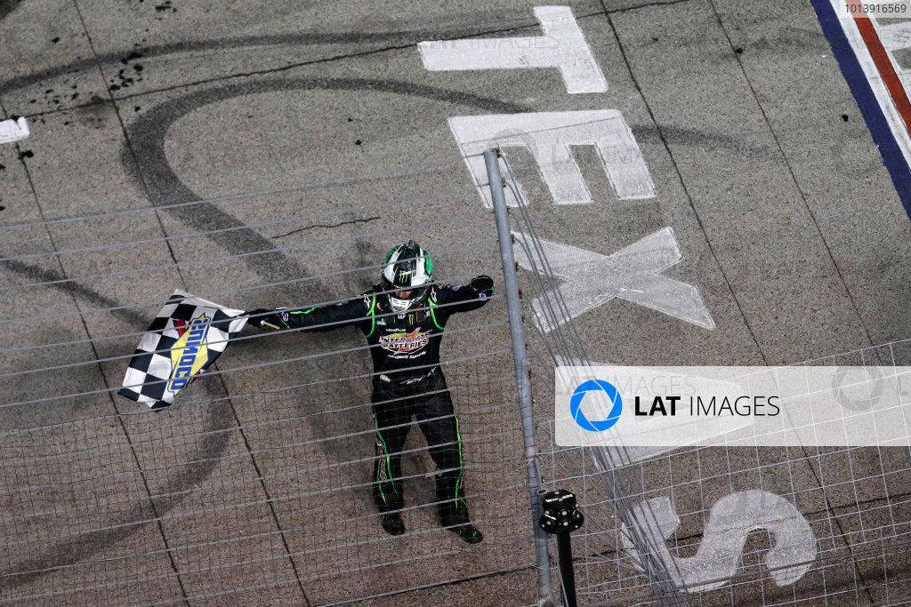 11-13 April, 2013, Fort Worth, Texas, USA Winner Kyle Busch celebrates .© 2013, Michael L. Levitt LAT Photo USA.