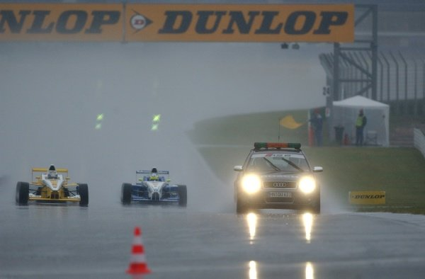 Formula BMW ADAC Championship 2002, Round 20 - Hockenheimring, Germany, 6 October 2002 - The race was started behind the safety car because of the extreme wet conditions.