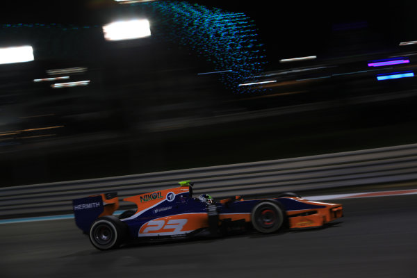 2013 GP2 Series Test 3 Yas Marina Circuit, Abu Dhabi, UAE. Day 3, Thursday 7th November 2013. Julian Leal (COL, Hilmer Motorsport)  World Copyright: Sam Bloxham/LAT Photographic. ref: Digital Image IMG_6000