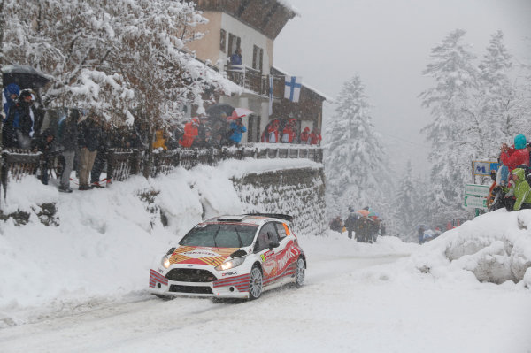 2014 World Rally Championship Monte Carlo Rally 13th - 19th January 2014 Robert Barrable, Ford, action Worldwide Copyright: McKlein/LAT