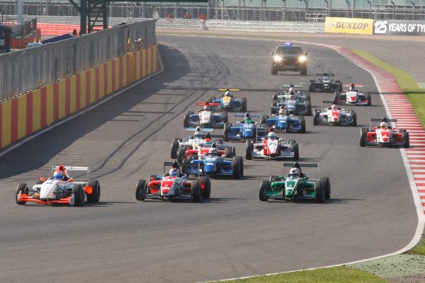 2013 BARC Formula RenaultSilverstone, Northants, 28th-29th Septemver 2013,Start f Race 2World Copyright. Jakob Ebrey/LAT Photographic