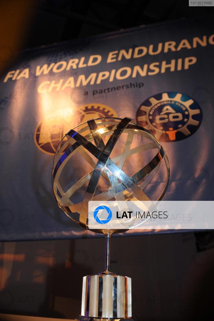 Circuit de La Sarthe, Le Mans, France. 5th - 12th June 2011. The trophy for the 2012 FIA World Endurance Championship. Detail. Photo: Jeff Bloxham/LAT Photographic. ref: Digital Image DSC_3568