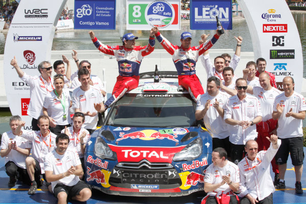 Round 2, Rally of Mexico, 3rd-6th March 2011Team Citroen, Sebastein Loeb, Daniel Elena, Citroen DS3 WRC, Podium, WRC, Portrait, Worldwide Copyright: McKlein/LAT
