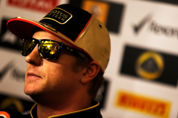 Yas Marina Circuit, Abu Dhabi, United Arab Emirates. Friday 1st November 2013. Kimi Raikkonen, Lotus F1. World Copyright: Charles Coates/LAT Photographic. ref: Digital Image _N7T0611