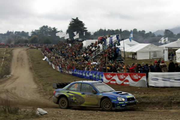 2005 FIA World Rally Champs. Round nine, Rally Argentina 14th - 17th July 2005 Petter Solberg, Subaru, action World Copyright: McKlein/LAT