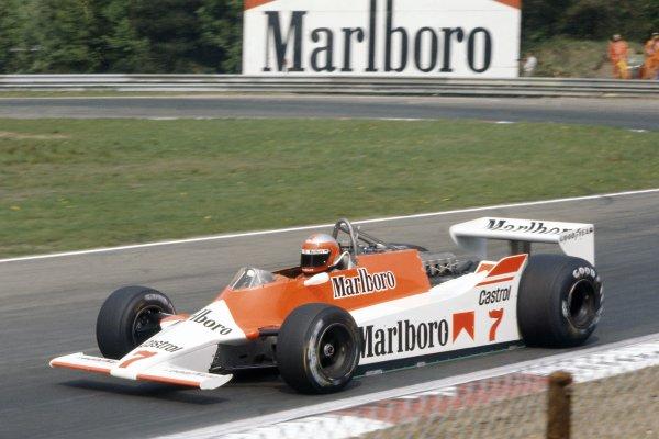 1980 Belgian Grand Prix.Zolder, Belgium. 2-4 May 1980.John Watson (McLaren M29-Ford Cosworth), not classified.World Copyright: LAT PhotographicRef: 35mm transparency 80BEL12
