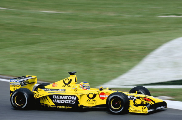 2000 European Grand Prix.Nurburgring, Germany. 19-21 May 2000.Jarno Trulli (Jordan EJ10 Mugen Honda).Ref-2K EURO 74.World Copyright - Gavin Lawrence/LAT Photographic