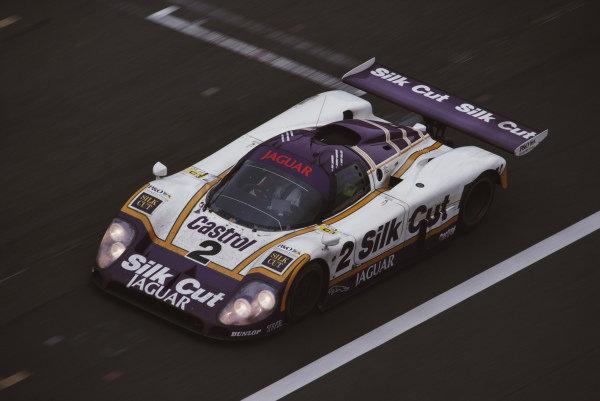 Jan Lammers / Johnny Dumfries / Andy Wallace, Silk Cut Jaguar, Jaguar XJR-9 LM.