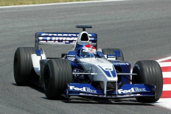 Marc Gene (ESP) BMW Williams FW23Formula One Testing, Barcelona, Spain, 25 June 2002.