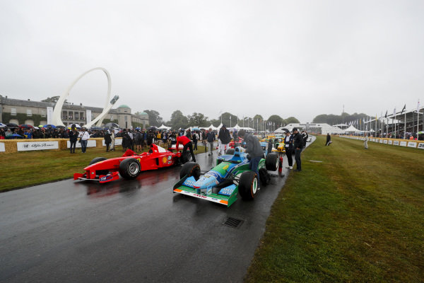 Michael Schumacher Celebration in front of Goodwood House