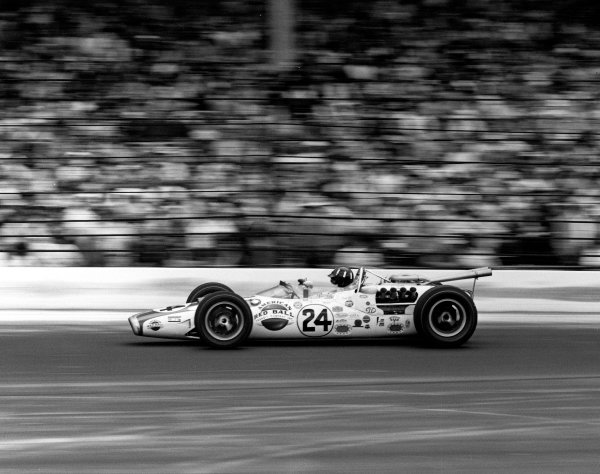 1966 Indianapolis 500. Indianapolis, Indiana, USA.  30th May 1966. Graham Hill (Lola T90 Ford/Team John Mecom) 1st position. A Race Through Time exhibition number 101. World Copyright - LAT Photographic. Ref: 34475