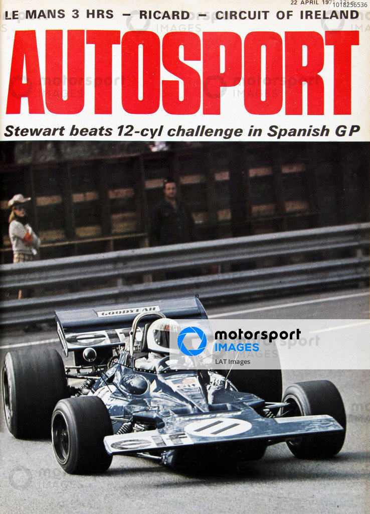 Cover of Autosport magazine, 22nd April 1971
