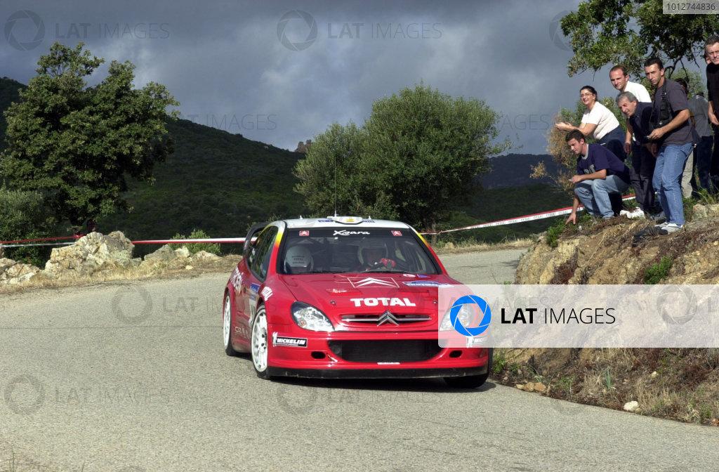 2001 World Rally Championship.Rallye de France, Ajaccio, Corsica, October 19-21.Jesus Puras on stage 13.Photo: Ralph Hardwick/LAT