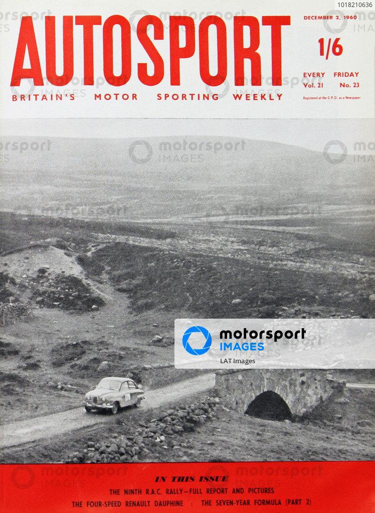 Cover of Autosport magazine, 2nd December 1960