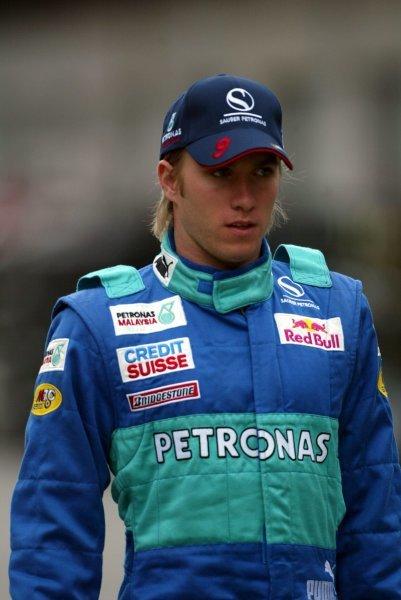 Nick Heidfeld (GER) Sauber.Formula One World Championship, Rd15, United States Grand Prix, Indianapolis, USA, 26 September 2003.DIGITAL IMAGE