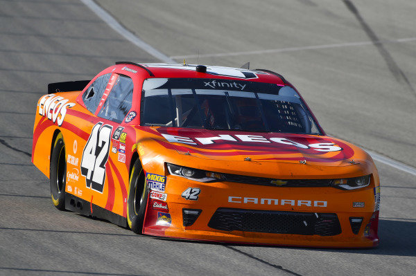 #42: Kyle Larson, Chip Ganassi Racing, Chevrolet Camaro ENEOS celebrates his win