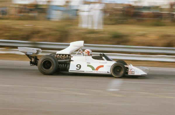 Mosport Park, Ontario, Canada. 21-23 September 1973.Rolf Stommelen (Brabham BT42 Ford), 12th position, action.World Copyright: LAT PhotographicRef: 35mm Image