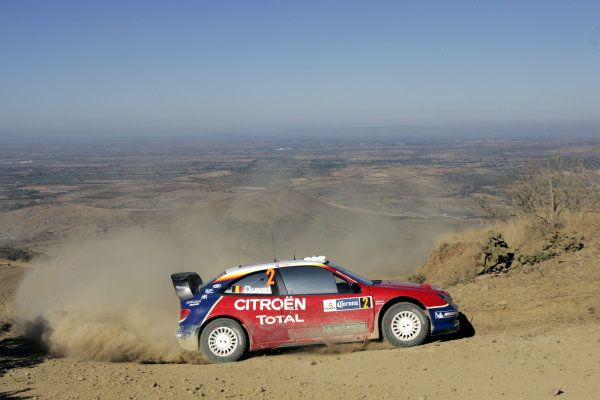 2005 FIA World Rally Champs. Round threeRally Mexico.10th - 13th March 2005.Francois Duval, Citroen, action.World Copyright: McKlein/LAT