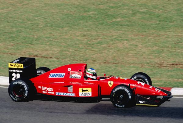 1992 San Marino Grand Prix.Imola, Italy. 15-17 May 1992.Ivan Capelli (Ferrari F92A).Ref-92 SM 22.World Copyright - LAT Photographic