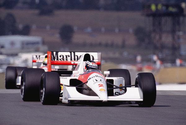 1992 South African Grand Prix.Kyalami, South Africa. 28/2-1/3 1992.Gerhard Berger (McLaren MP4/6B Honda) 5th position.Ref-92 SA 27.World Copyright - LAT Photographic