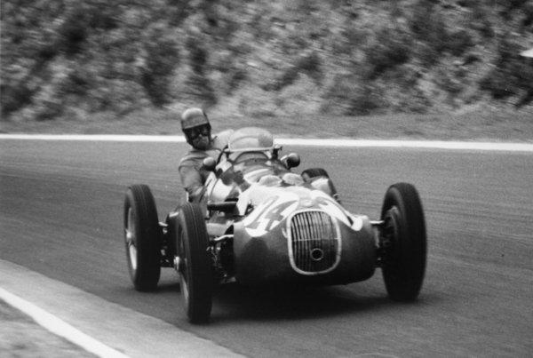 1952 French Grand Prix.Rouen-les-Essarts, France. 6 July 1952.Yves Giraud-Cabantous (HWM 52-Alta). Ref-52/28 #34.World Copyright - LAT Photographic