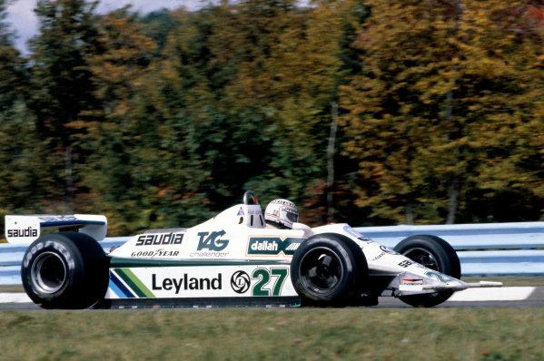 1980 United States Grand PrixWatkins Glen, USA. 3rd - 5th October 1980Alan Jones (Williams FW07B-Ford), action.World Copyright: LAT Photographicref: 80USA16