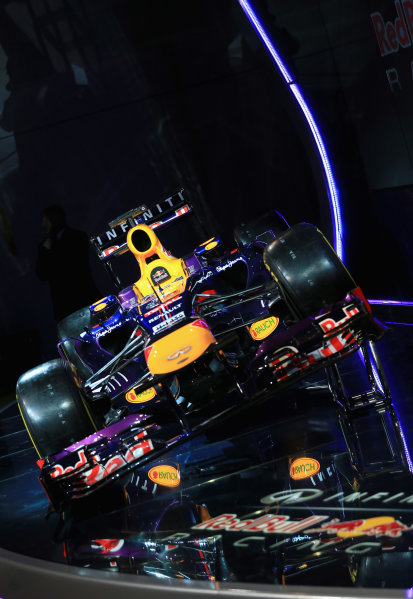 Milton Keynes, UK   The new Infiniti Red Bull Racing RB9 at the Photo: Richard Heathcote/Getty Images/Red Bull Racing () ref: Digital Image 160597091