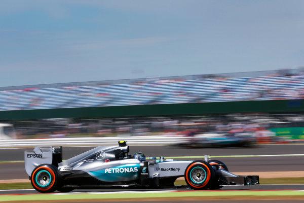 Silverstone Circuit, Northamptonshire, England. Friday 3 July 2015. Nico Rosberg, Mercedes F1 W06 Hybrid. World Copyright: Alastair Staley/LAT Photographic ref: Digital Image _R6T3695