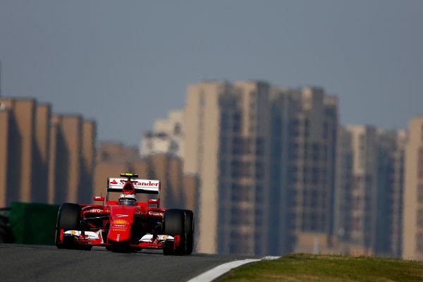 Shanghai International Circuit, Shanghai, China. Saturday 11 April 2015. Kimi Raikkonen, Ferrari SF-15T. World Copyright: Andrew Hone/LAT Photographic. ref: Digital Image _ONZ1407