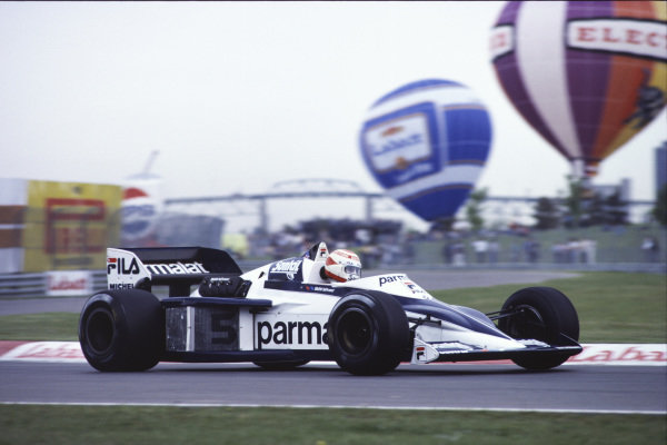 1983 Canadian Grand Prix  Montreal, Canada. 10-12 June 1983.  Nelson Piquet, Brabham BT52 BMW, retired.  Ref: 83CAN01. World Copyright - LAT Photographic
