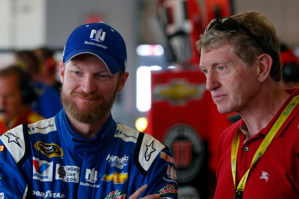 7-9 August, 2015, Watkins Glen, New York USA Dale Earnhardt Jr  and Bill Elliott ?2015, Russell LaBounty LAT Photo USA