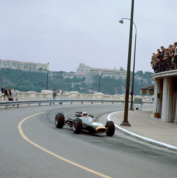 1965 Monaco Grand Prix. Monte Carlo, Monaco. 28-30 May 1965. Jack Brabham (Brabham BT11 Climax). Ref: 1633. World Copyright - LAT Photographic