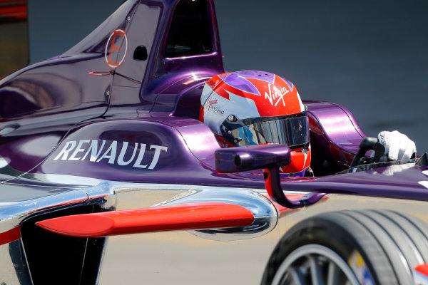 FIA Formula E Test Day, Donington Park, UK.  9th - 10th July 2014.  Jaime Alguersuari, Virgin Racing. Photo: Adam Warner/FIA Formula E ref: Digital Image _L5R2754